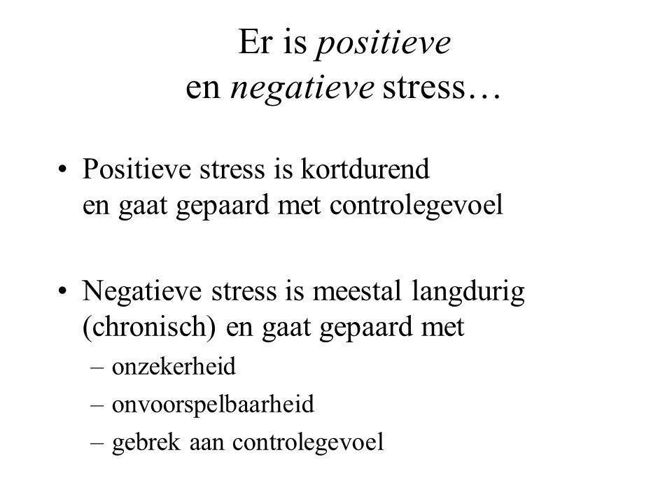 Er is positieve en negatieve stress…