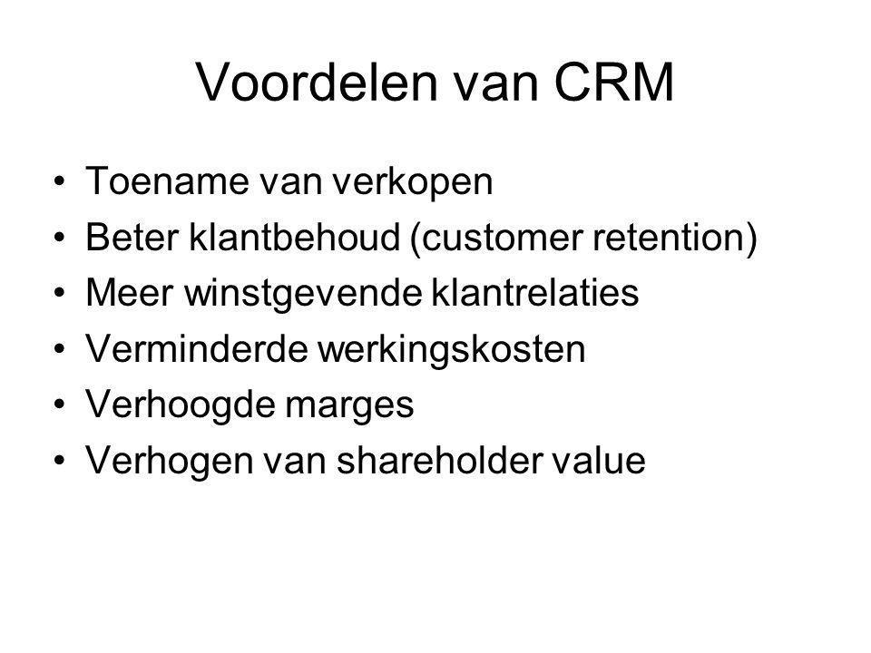 Voordelen van CRM Toename van verkopen