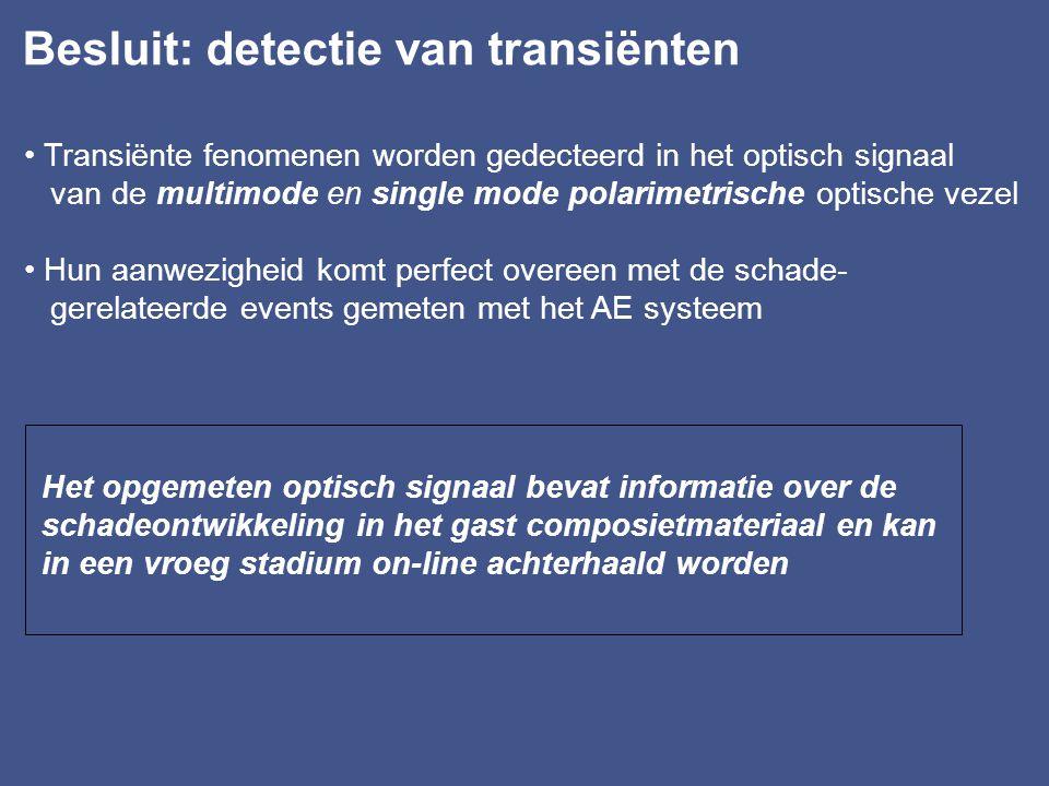 Besluit: detectie van transiënten