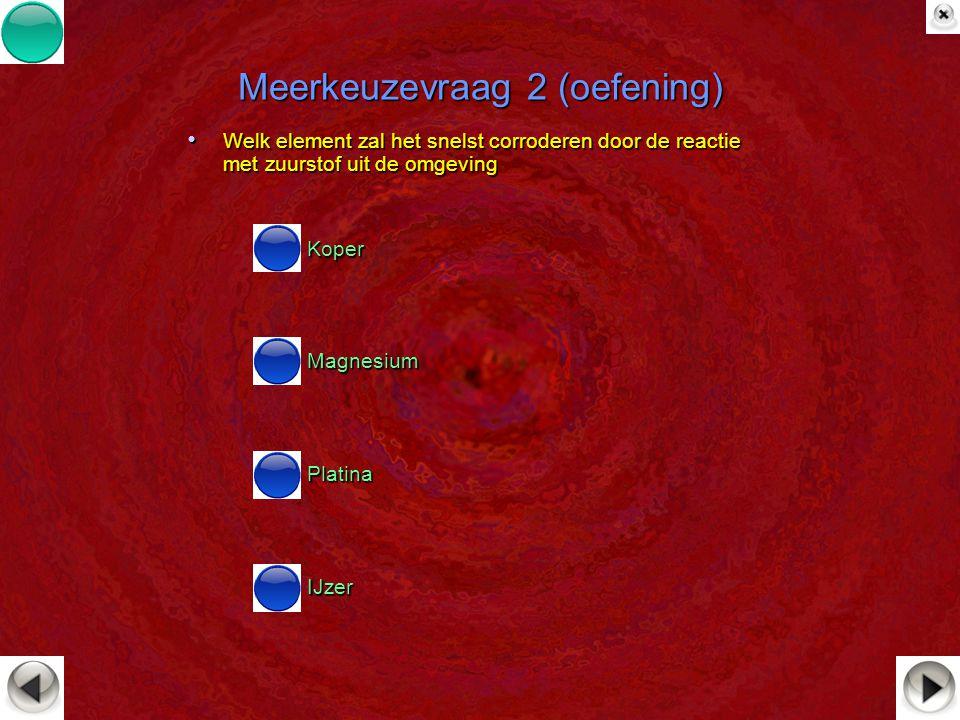 Meerkeuzevraag 2 (oefening)