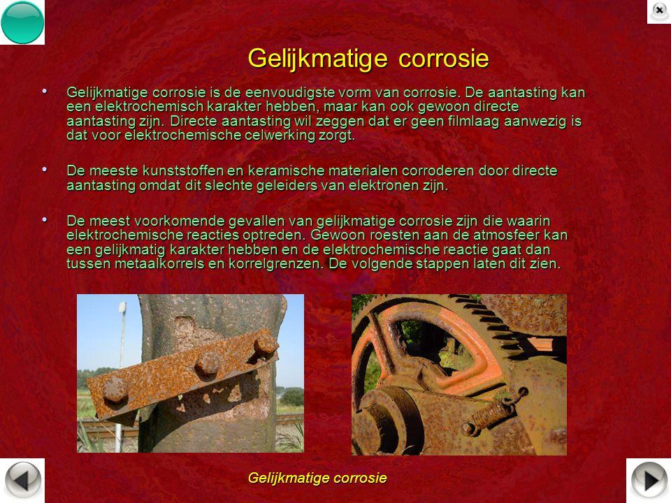 Gelijkmatige corrosie