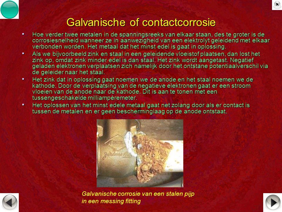 Galvanische of contactcorrosie