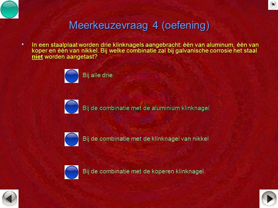 Meerkeuzevraag 4 (oefening)