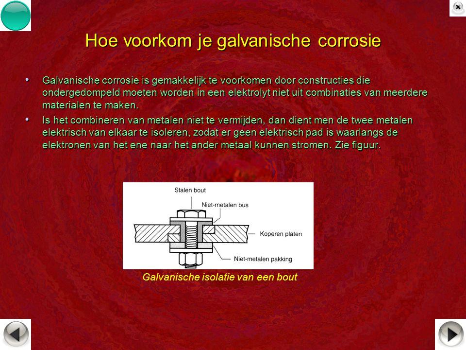 Hoe voorkom je galvanische corrosie