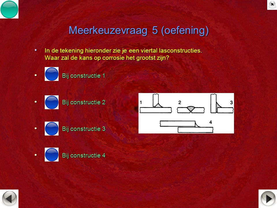 Meerkeuzevraag 5 (oefening)