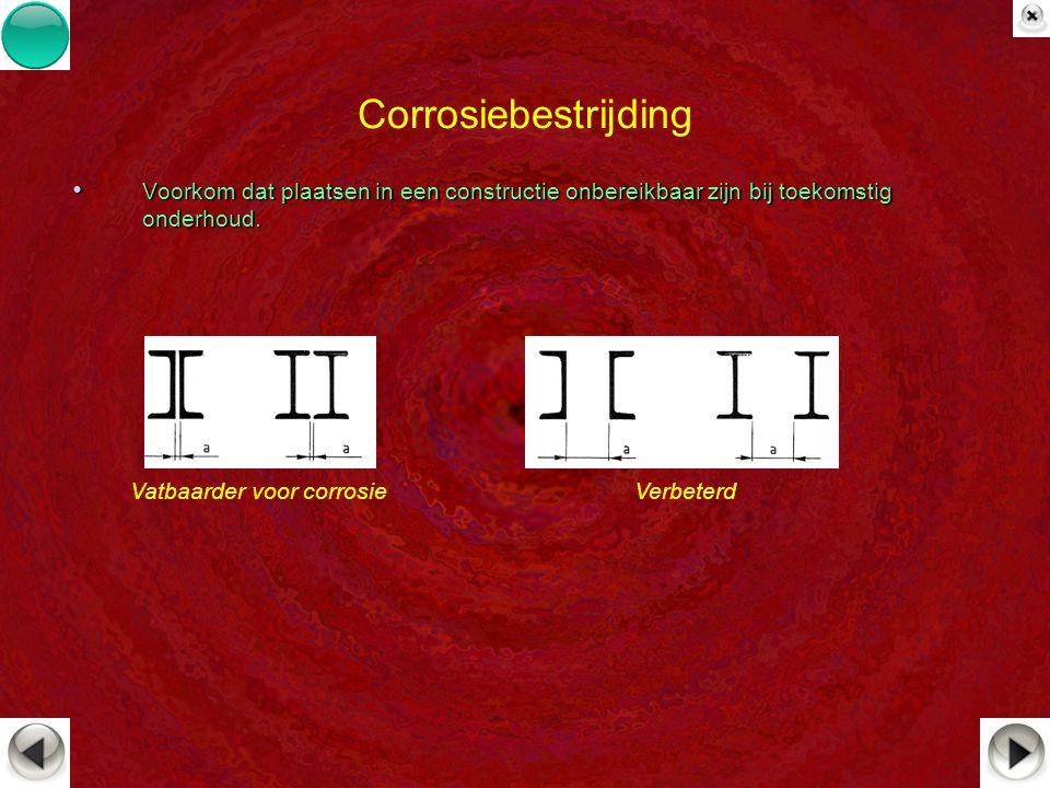Corrosiebestrijding Voorkom dat plaatsen in een constructie onbereikbaar zijn bij toekomstig onderhoud.