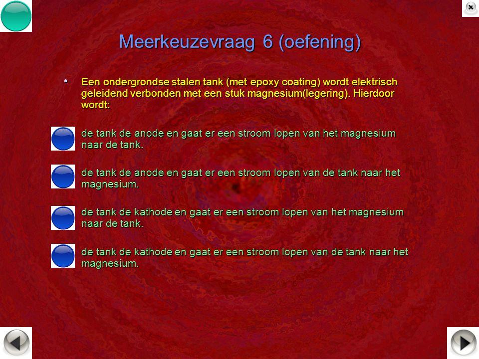 Meerkeuzevraag 6 (oefening)