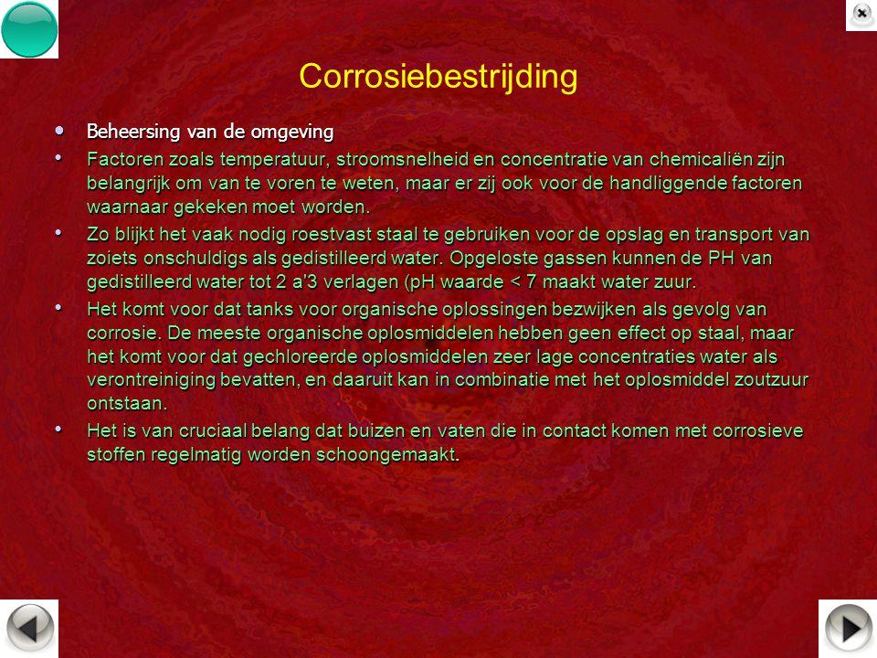 Corrosiebestrijding Beheersing van de omgeving