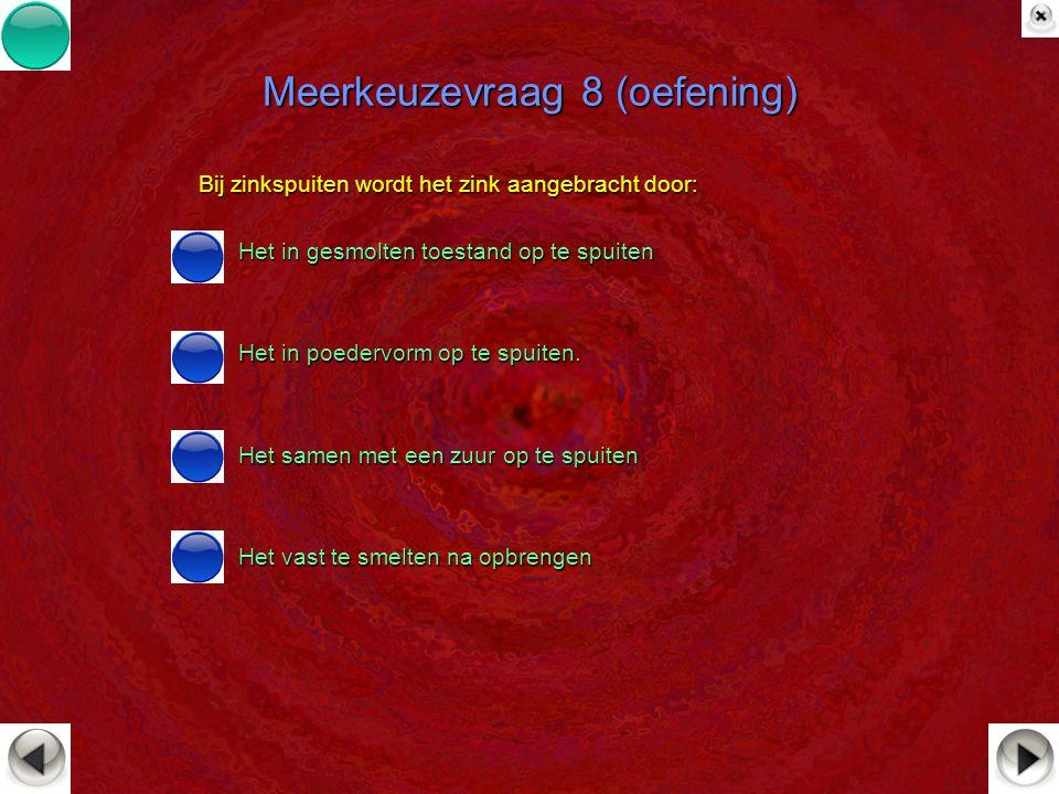 Meerkeuzevraag 8 (oefening)