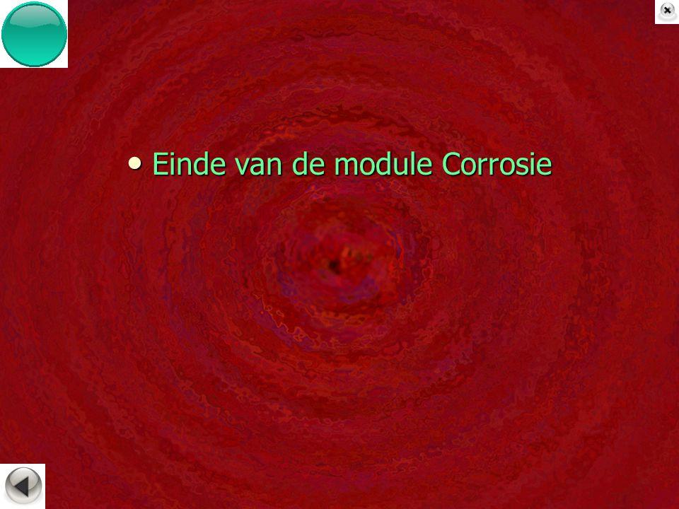 Einde van de module Corrosie