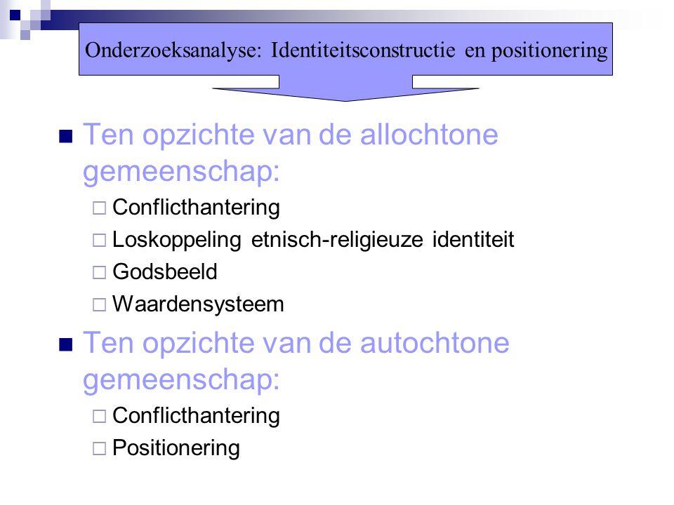 Onderzoeksanalyse: Identiteitsconstructie en positionering