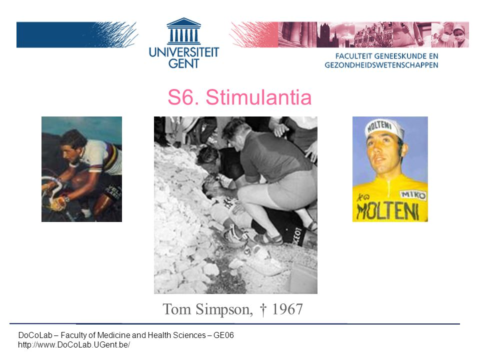 S6. Stimulantia Tom Simpson, † 1967