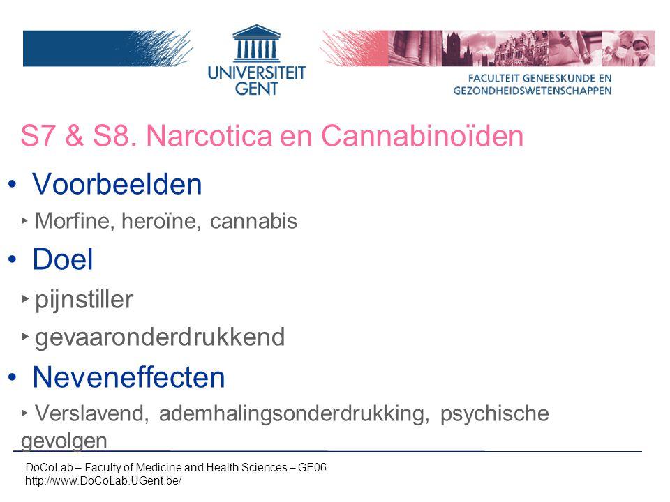 S7 & S8. Narcotica en Cannabinoïden