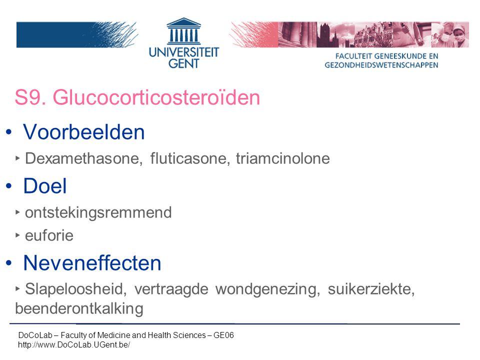 S9. Glucocorticosteroïden