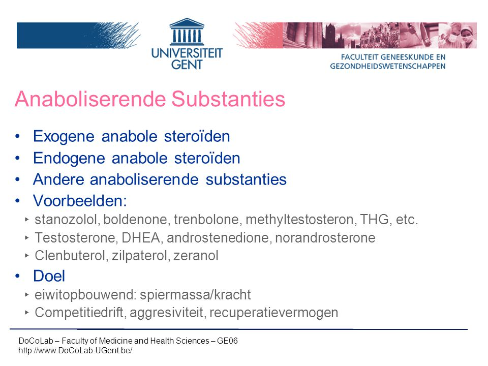 Anaboliserende Substanties