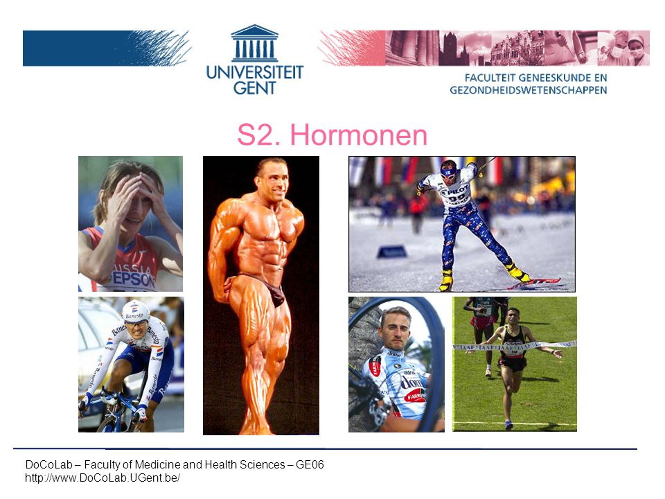 S2. Hormonen DoCoLab – Faculty of Medicine and Health Sciences – GE06 http://www.DoCoLab.UGent.be/