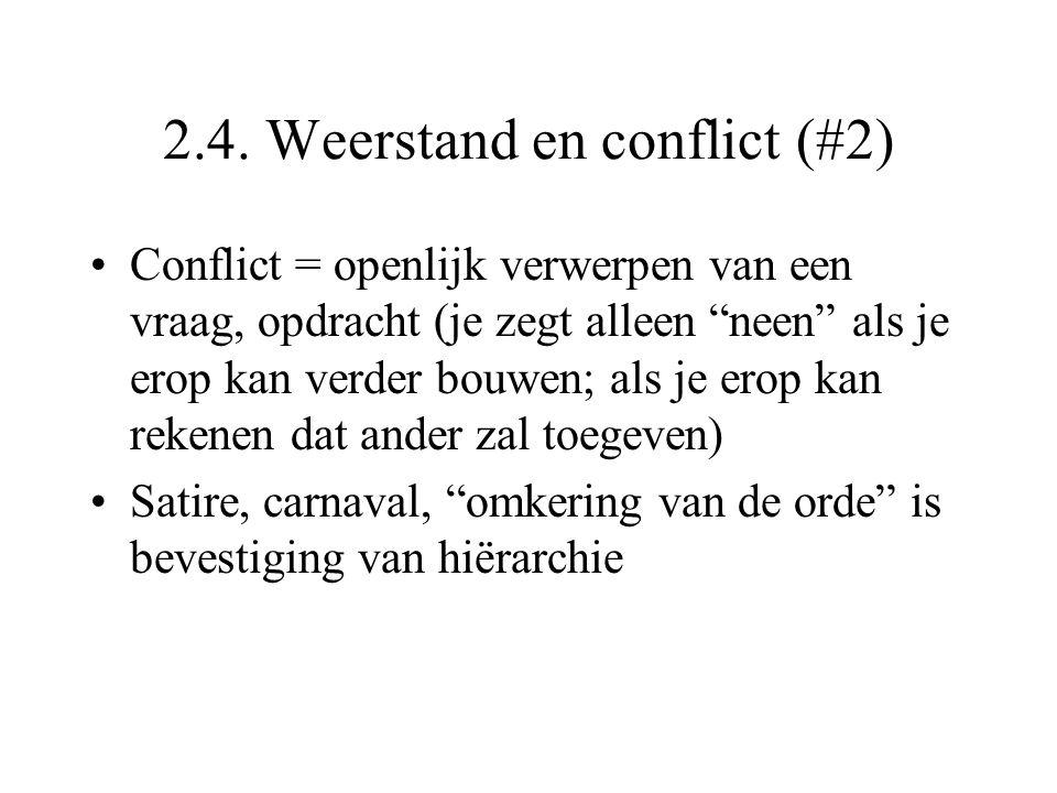 2.4. Weerstand en conflict (#2)