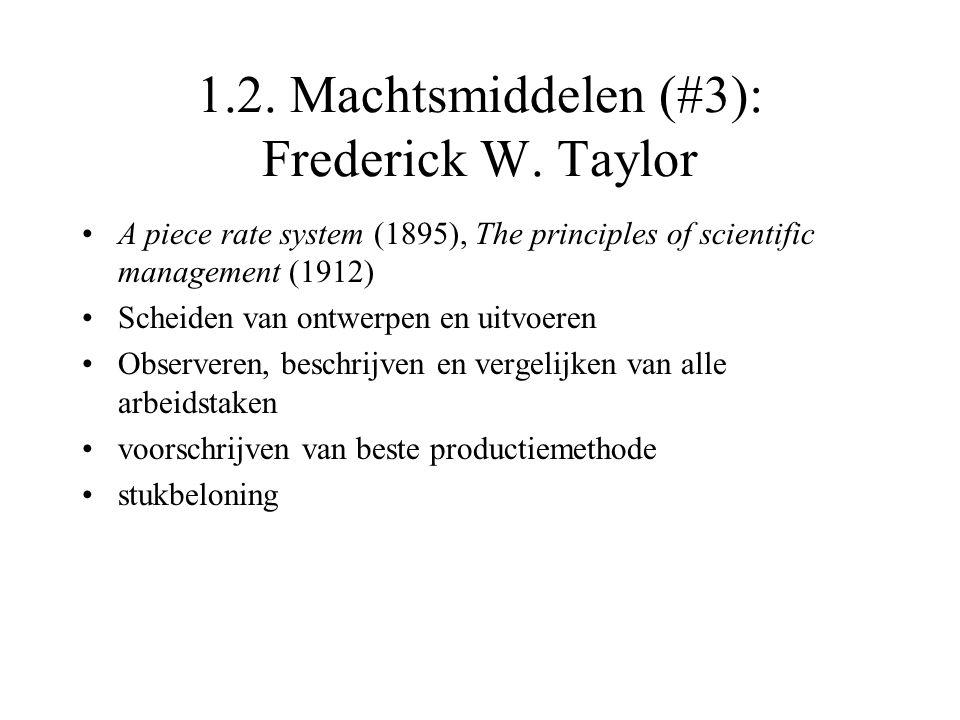 1.2. Machtsmiddelen (#3): Frederick W. Taylor