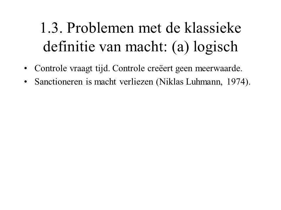 1.3. Problemen met de klassieke definitie van macht: (a) logisch
