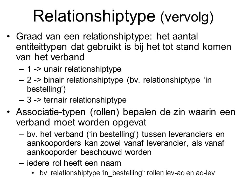 Relationshiptype (vervolg)