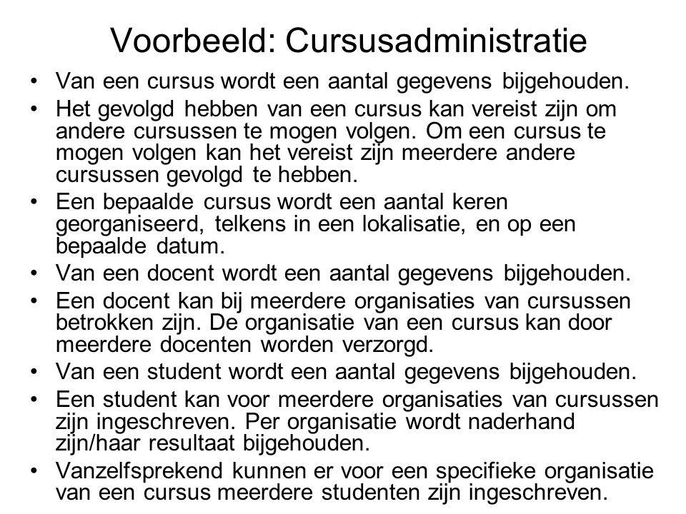 Voorbeeld: Cursusadministratie