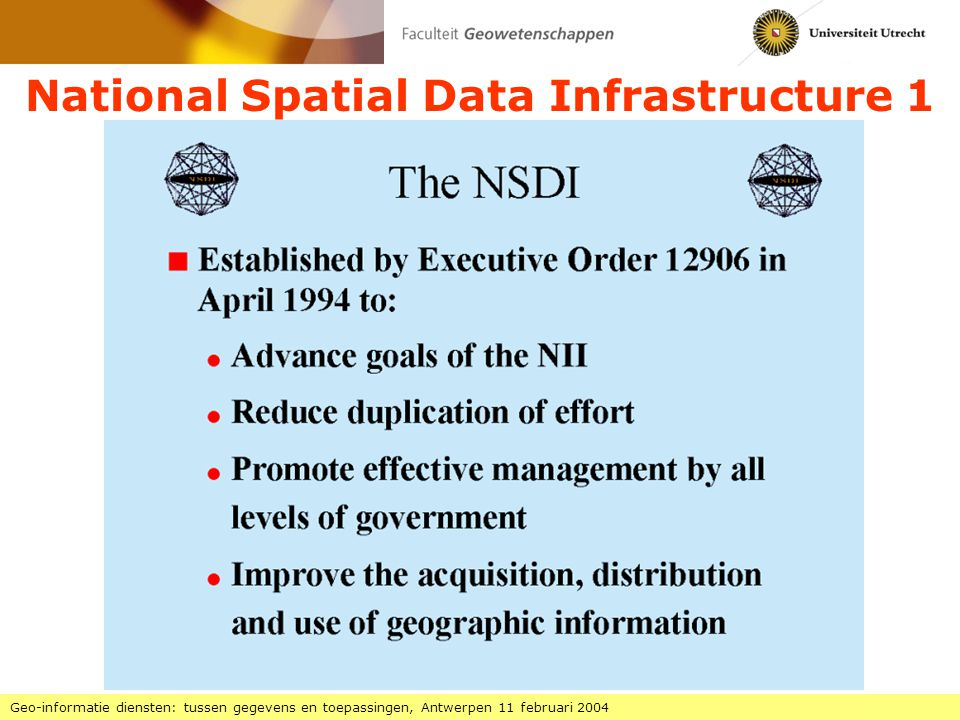 National Spatial Data Infrastructure 1