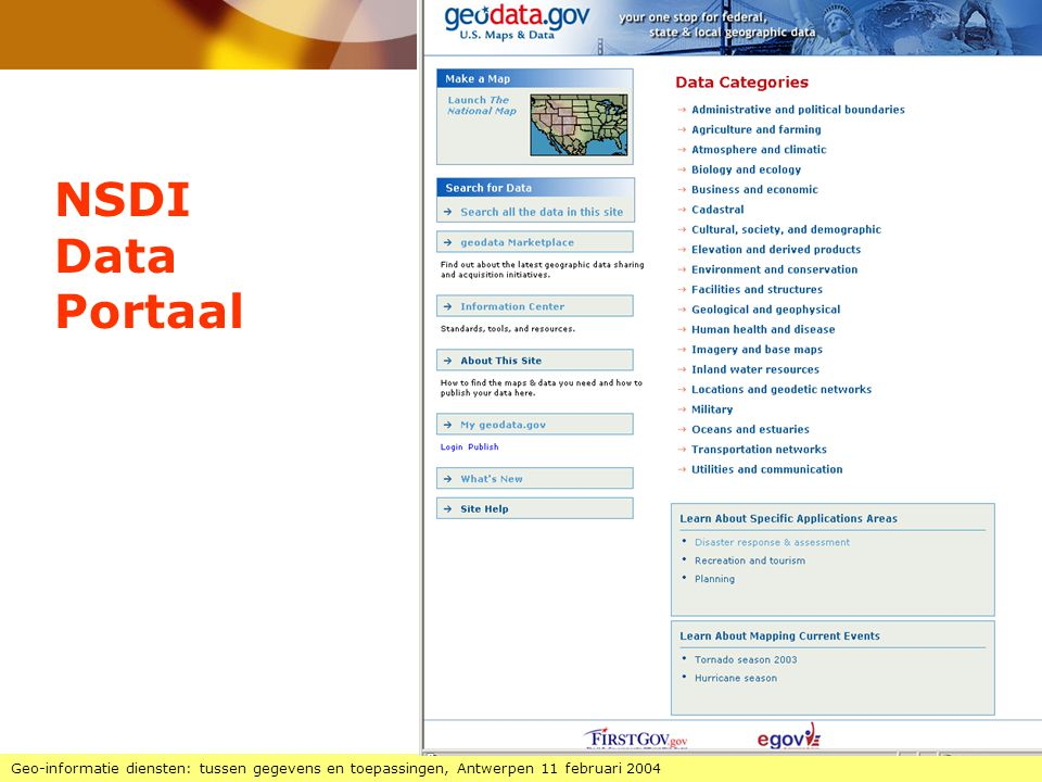 NSDI Data. Portaal.