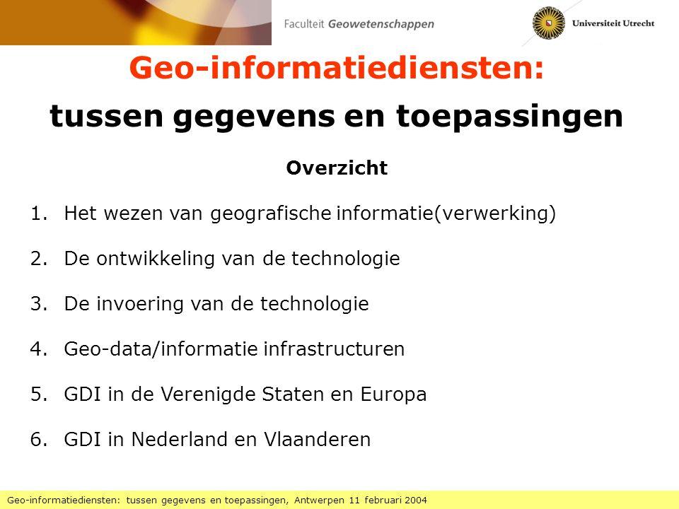 Geo-informatiediensten: tussen gegevens en toepassingen