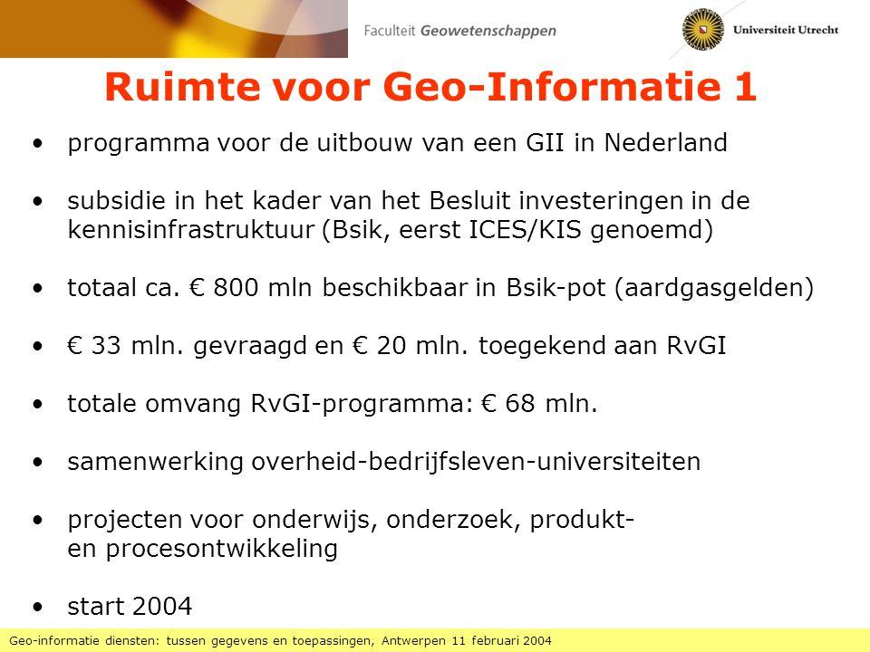 Ruimte voor Geo-Informatie 1