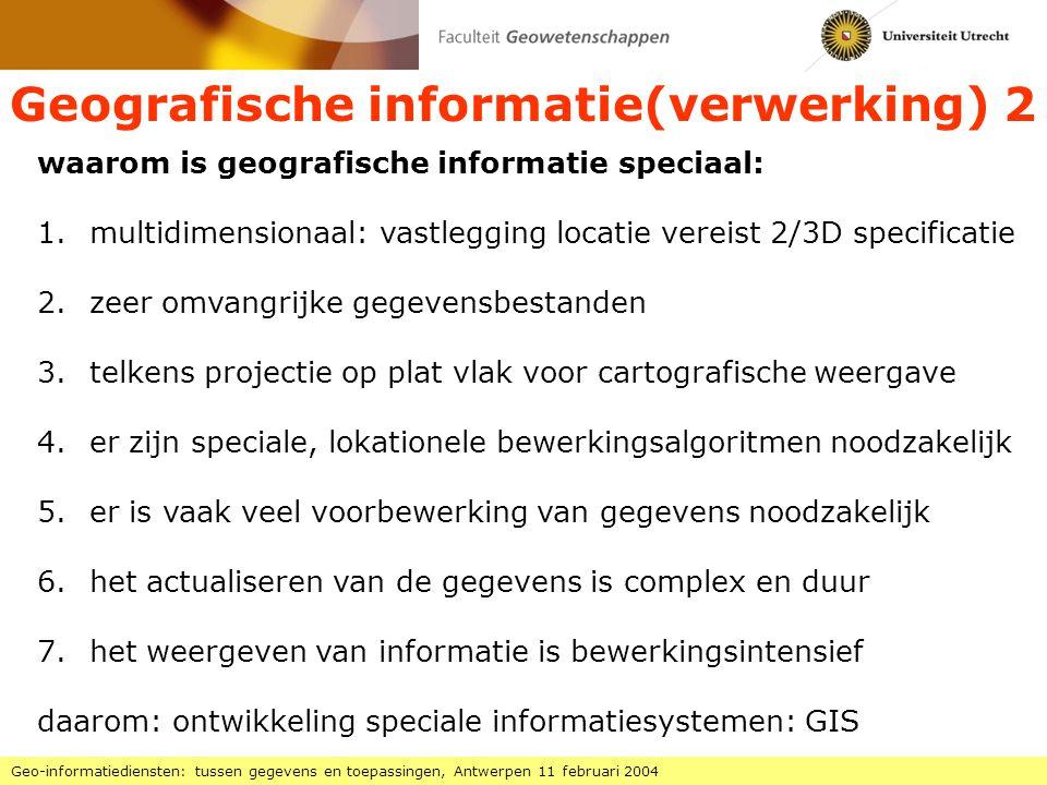 Geografische informatie(verwerking) 2