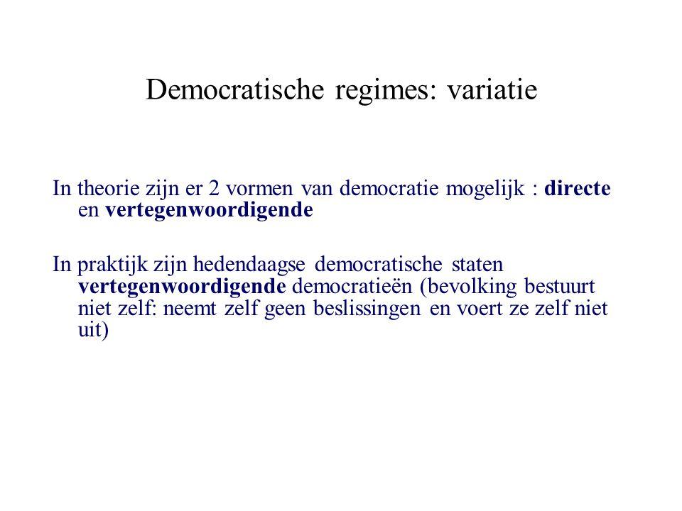 Democratische regimes: variatie