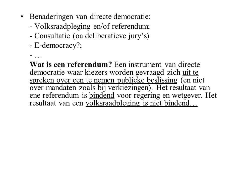 Benaderingen van directe democratie: