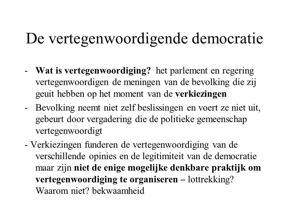 De vertegenwoordigende democratie