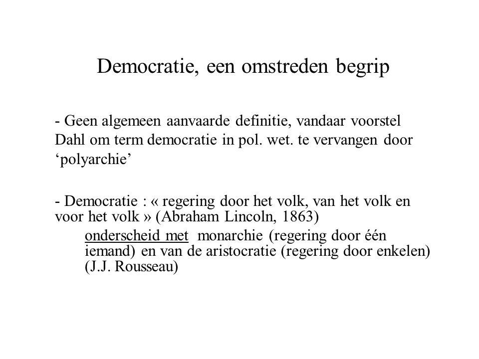 Democratie, een omstreden begrip