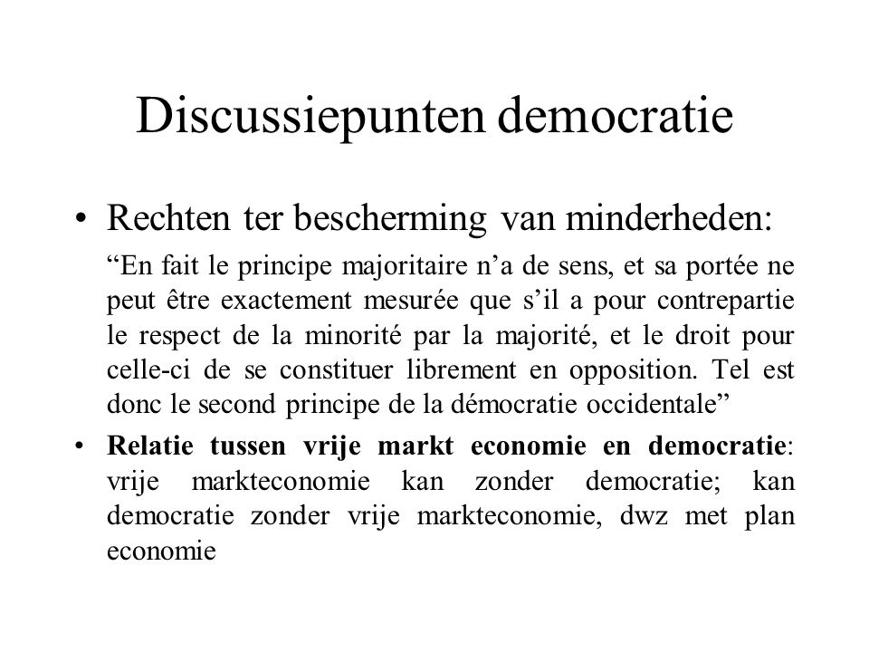 Discussiepunten democratie