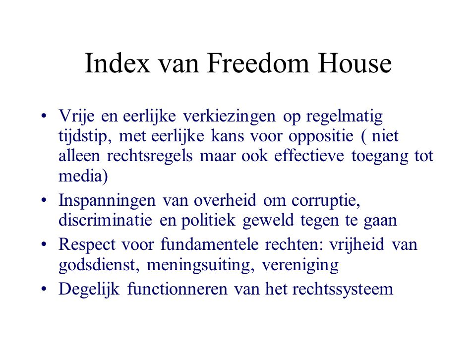 Index van Freedom House