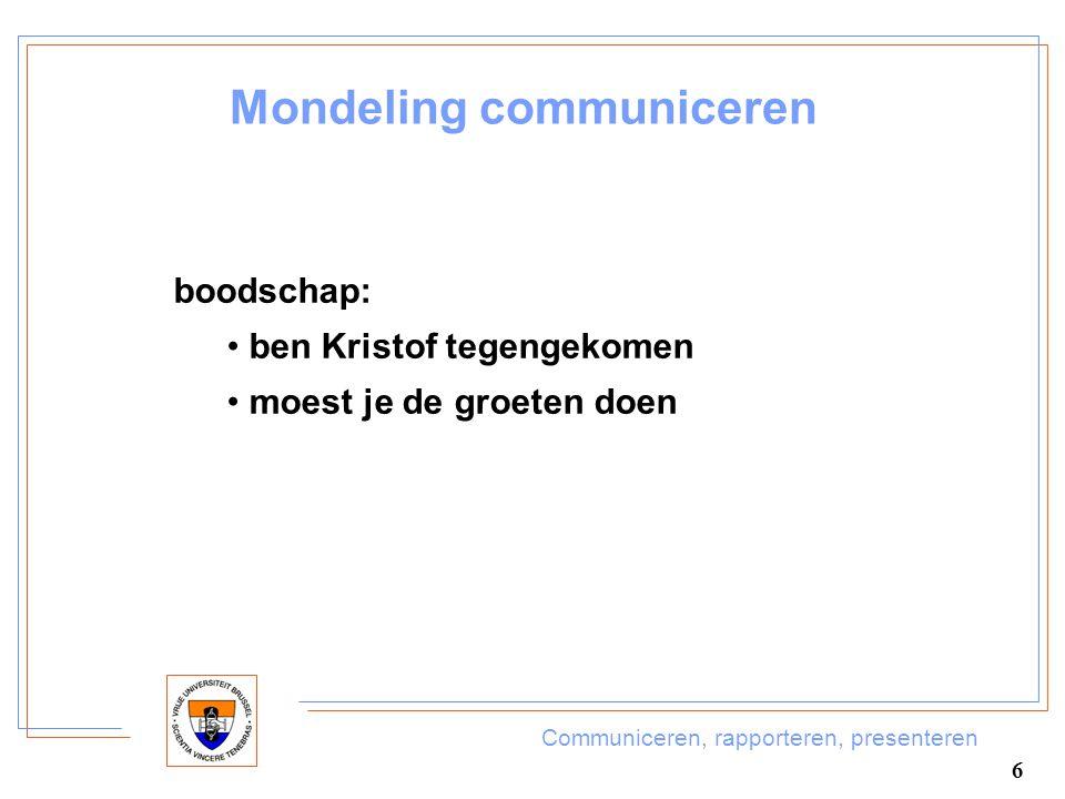 Mondeling communiceren