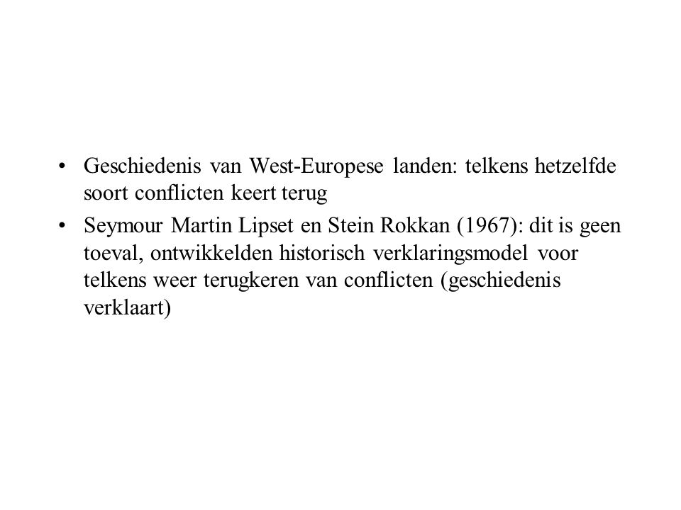 Geschiedenis van West-Europese landen: telkens hetzelfde soort conflicten keert terug