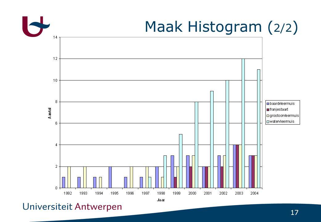 Maak Histogram (2/2)
