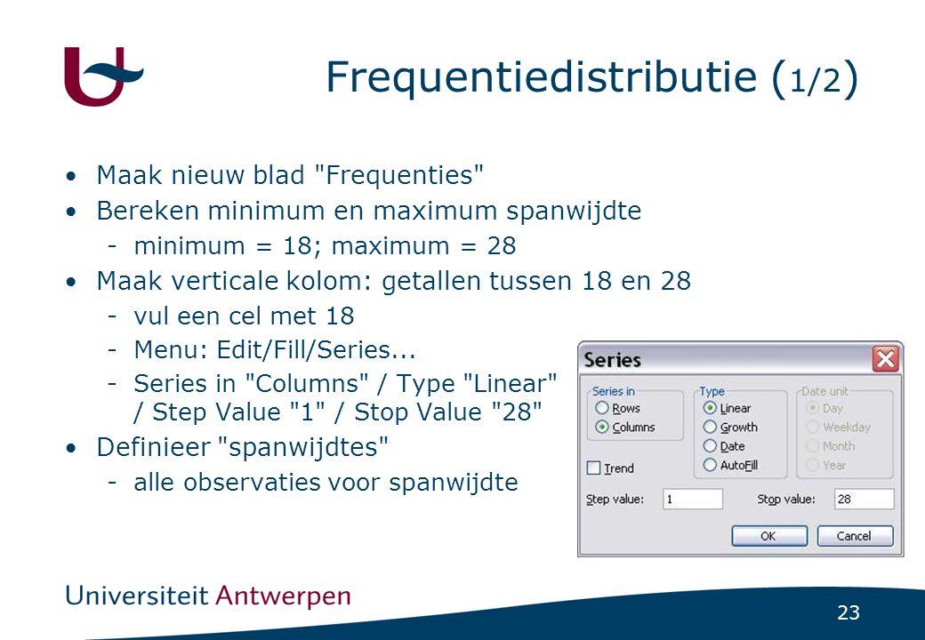 Frequentiedistributie (1/2)