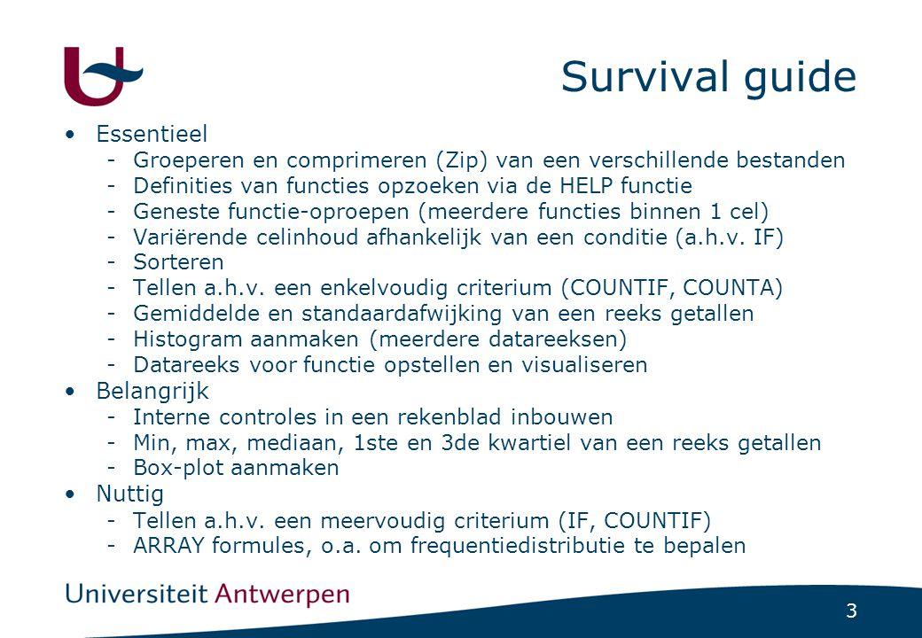 Survival guide Essentieel Belangrijk Nuttig