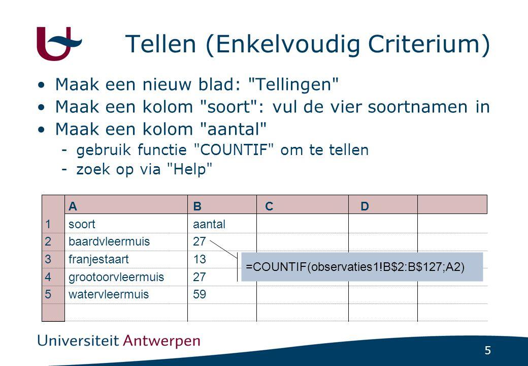 Tellen (Enkelvoudig Criterium)