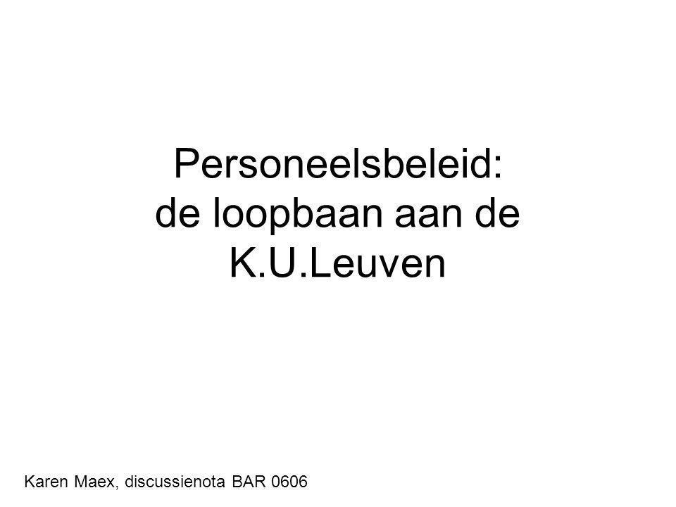 Personeelsbeleid: de loopbaan aan de K.U.Leuven