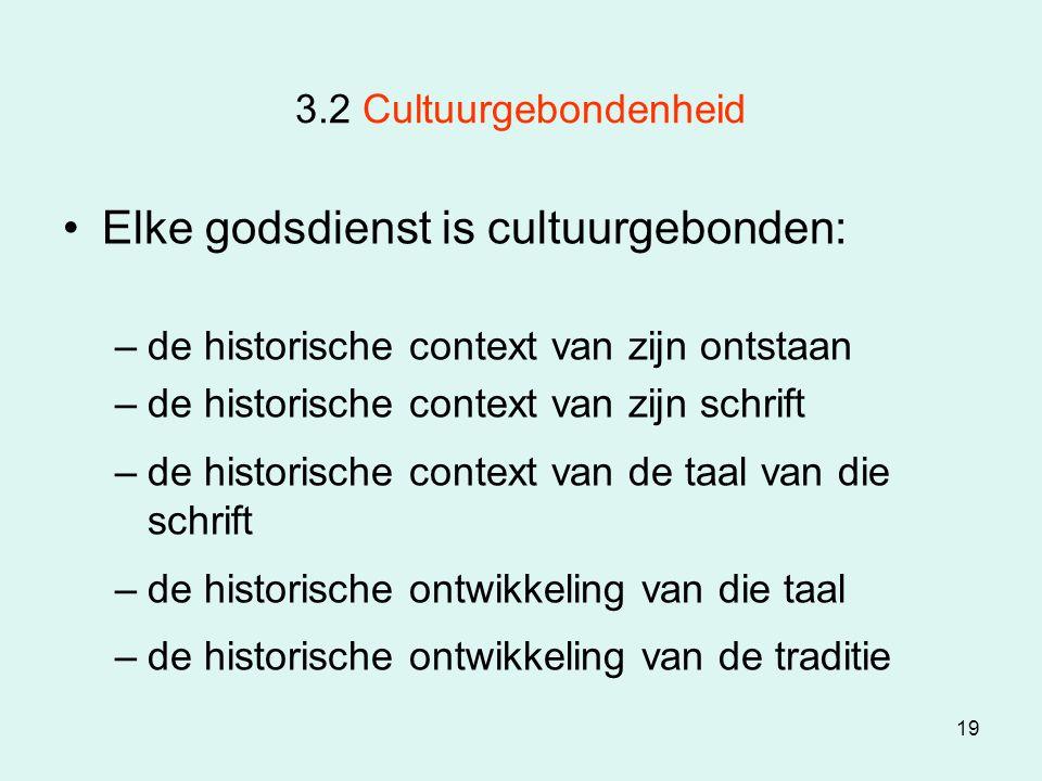 Elke godsdienst is cultuurgebonden: