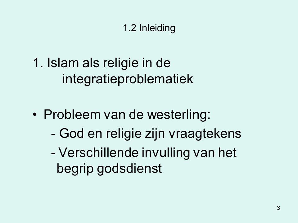 1. Islam als religie in de integratieproblematiek