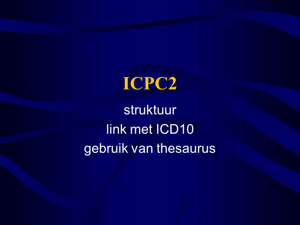 struktuur link met ICD10 gebruik van thesaurus