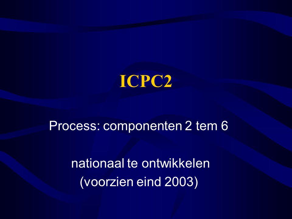 ICPC2 Process: componenten 2 tem 6 nationaal te ontwikkelen