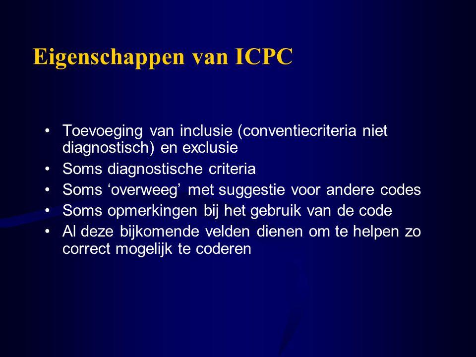 Eigenschappen van ICPC