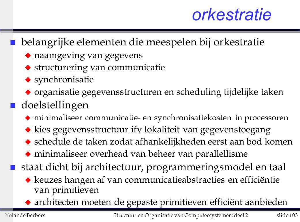 orkestratie belangrijke elementen die meespelen bij orkestratie