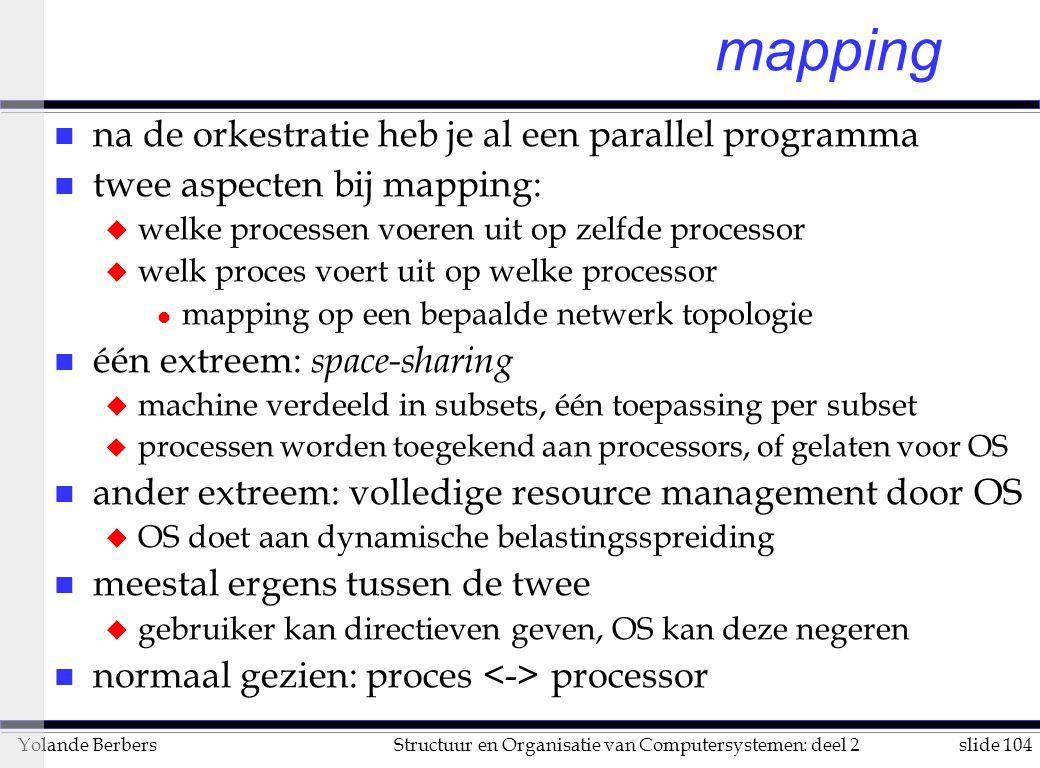 mapping na de orkestratie heb je al een parallel programma